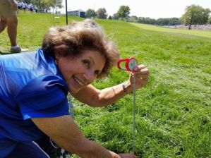 Nancy Berkley length of the rough at the Solheim Cup