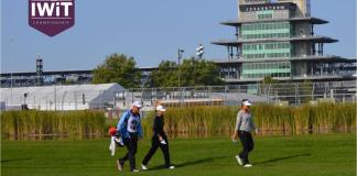 Stacy Lewis and Lydia Ko playing in the Indy Women in Tech Championship