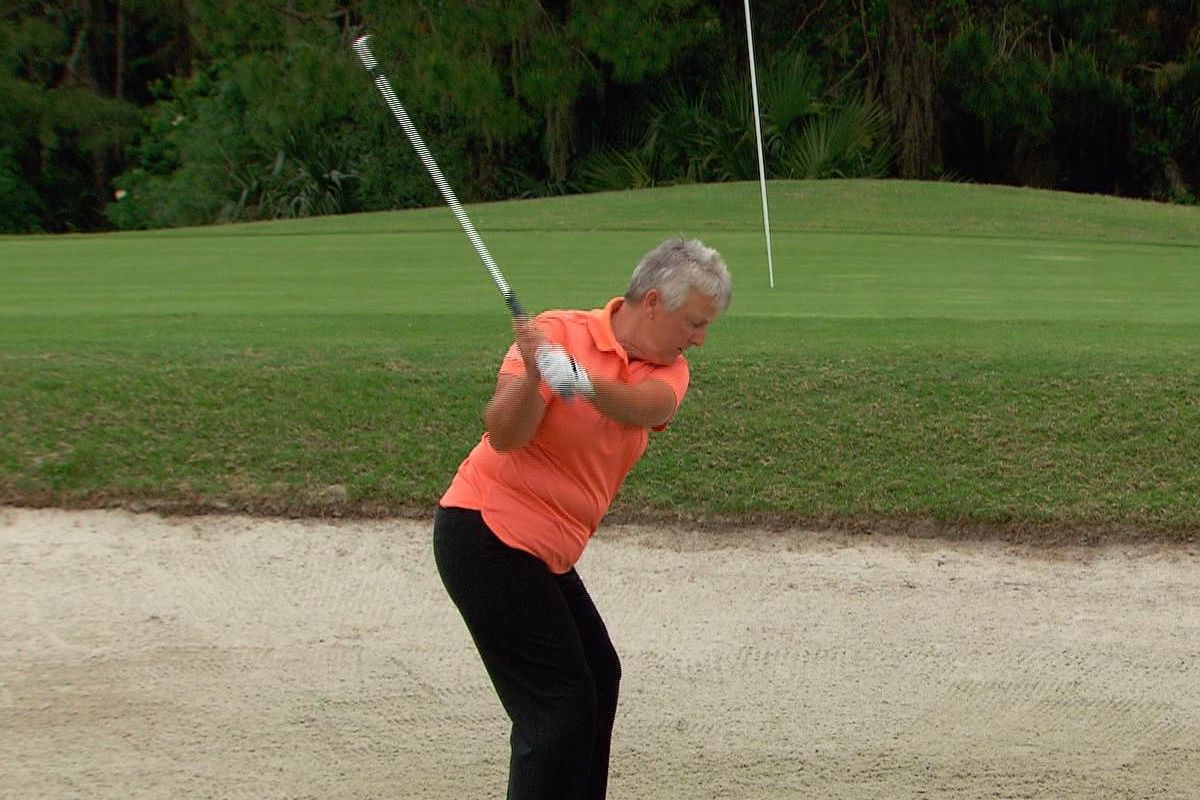 How to Play From an Uphill Lie in a Bunker via @womensgolfcom