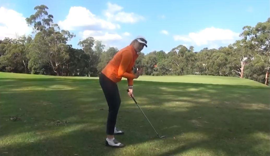 Tennis Posture in Golf Anne Rollo Womens Golf