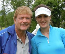 Tony Jesselli and Sandra Gal - womens golf