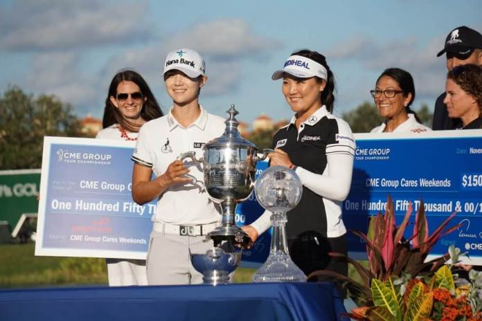 Sung Hyun Park and So Yeon Ryu joint Playes of the Year LPGA 2017 - Photo Ben Harpring for womensgolf.com