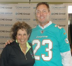 Nancy Berkley with LPGA Commissioner, Mike Whan