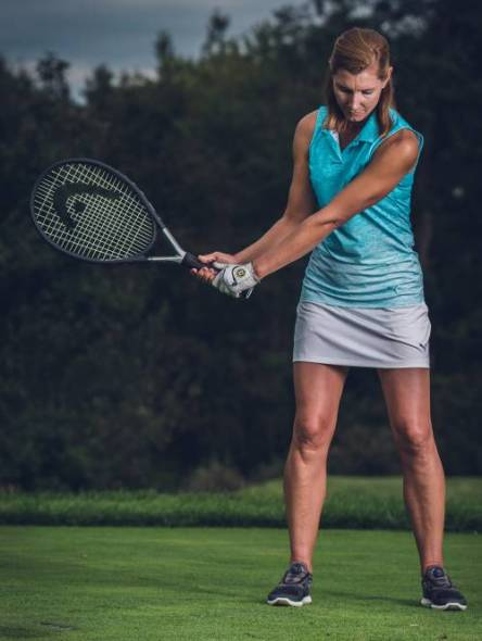 Tennis Racket Drill for Clubface Control - Erika Larkin - Womens Golf