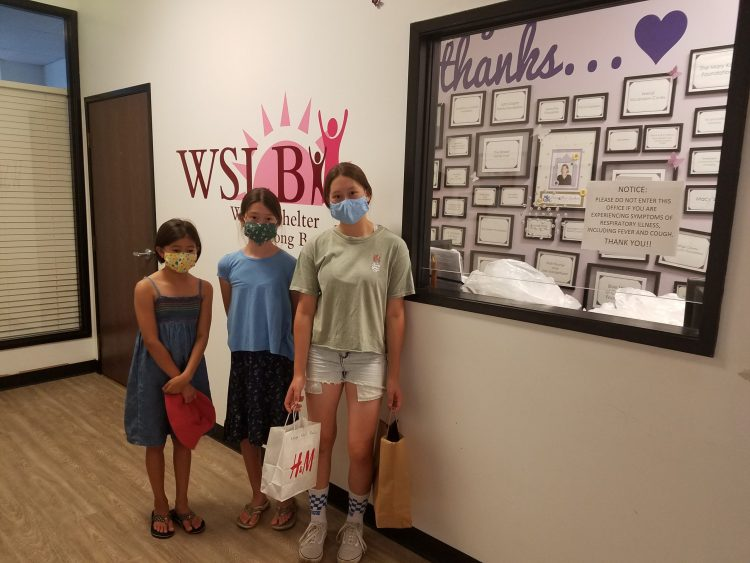 Nozomi Akin and her sisters dropped off 125 face masks for us today!'