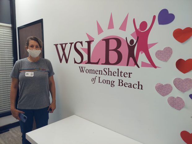 Jodi Waxman of EcoSet with a Target Store post-production donation to WSLB! Thank you so much Jodi!