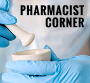Pharmacist holding a mortar and pestle