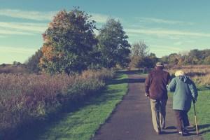 older couple taking a walk