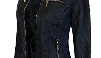 cff99ab9eb3 chouyatou Women s Fashion Studded Perfectly Shaping Faux Leather ...