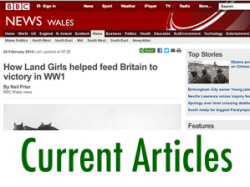 First World War Women's Land Army Archive: Current Articles