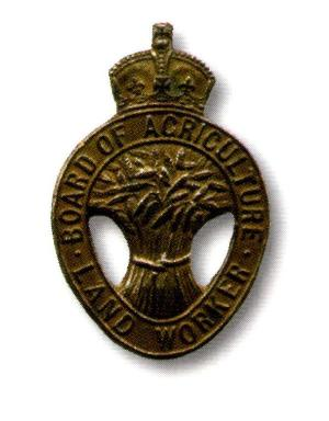 WW1 Board of Agriculture Land Worker badge, often worn by members of the WLA on their hats. Source: p19, 'The Women's Land Army' by Neil R Storey and Molly Houseago
