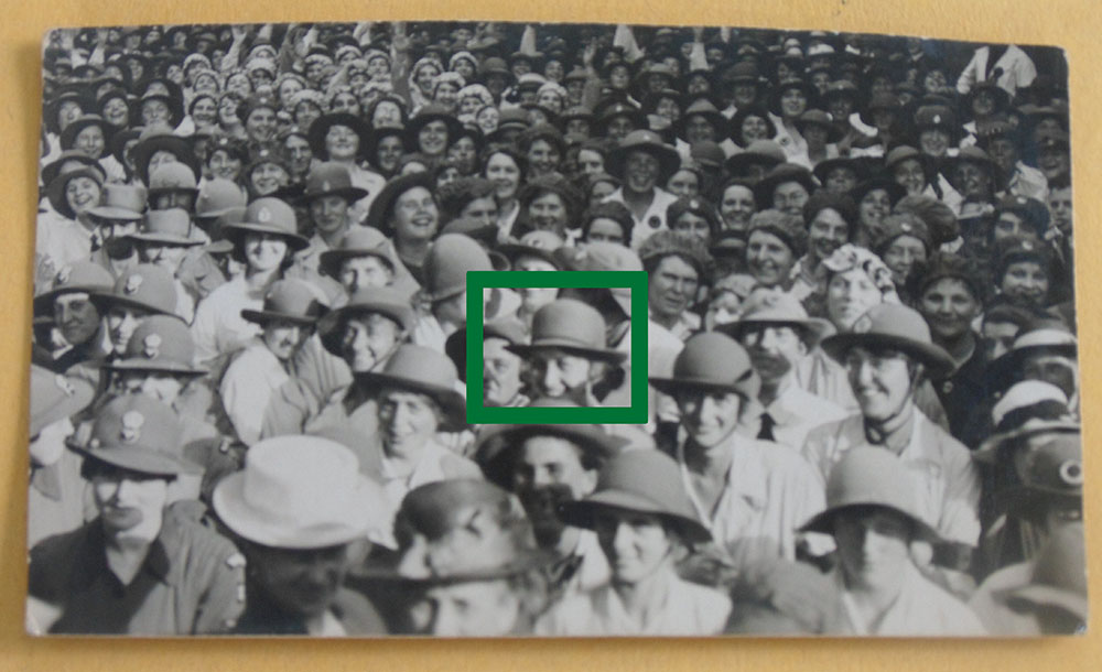 Dorothy Brown indicated at the Women War Workers Rally, Peterborough, 14 Sept 1918