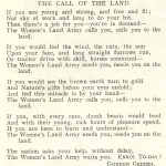 WW2 Poem: 'The Call Of The Land' Recruitment Poem