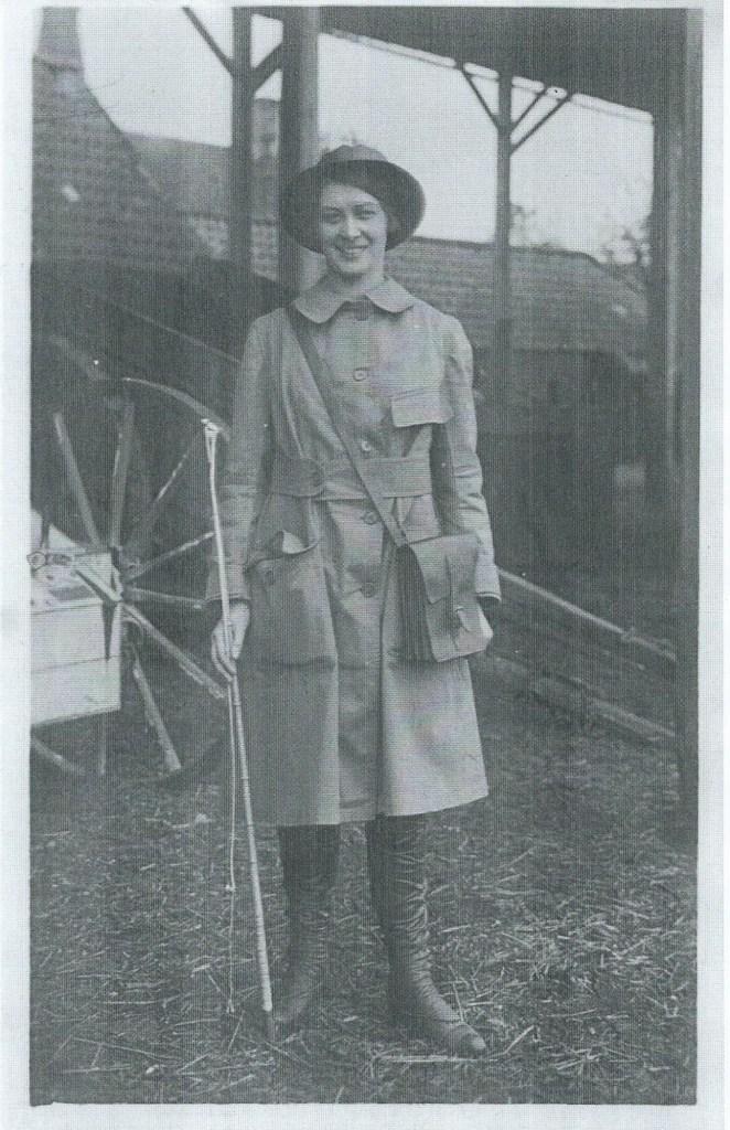 Dorothy Brown, employed by Mr Brown of Gunthorpe deliviering milk locally, 19 May 1916 Peterborough Advertiser