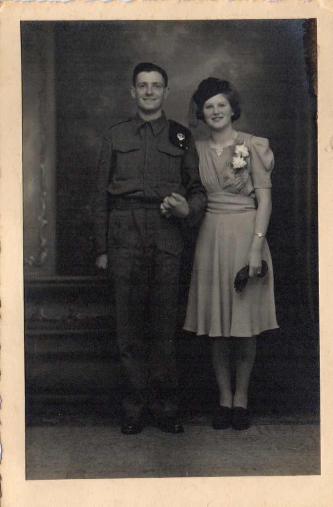 Joan and Geoff Shutte Archive Photo 20. Wedding photo taken in 1942.