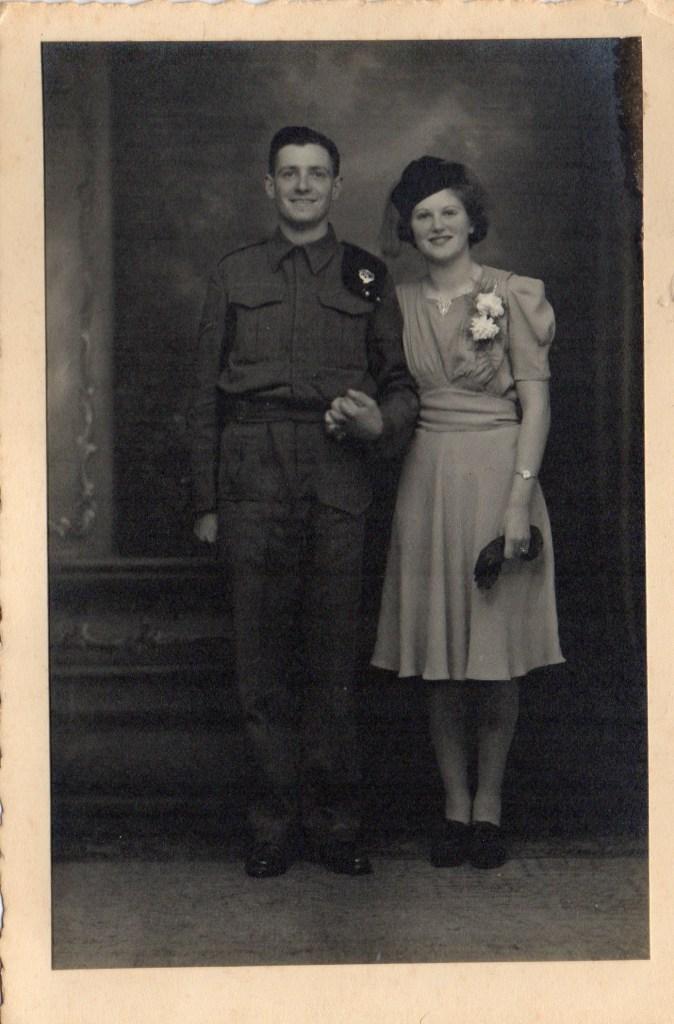 Joan and Geoff Shutte Archive Photo 20. Wedding photo taken in 1942.