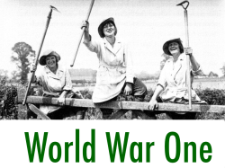 World War One Women's Land Army