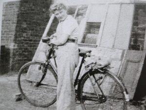 Land Girl on Bike Source: