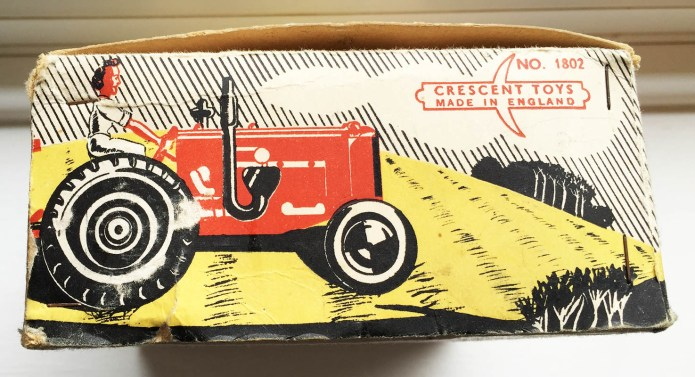 Tractor Toy Packaging Side View Source: Catherine Procter Women's Land Army Collection.
