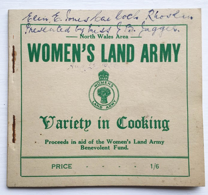 Women's Land Army Wales Receipe Book