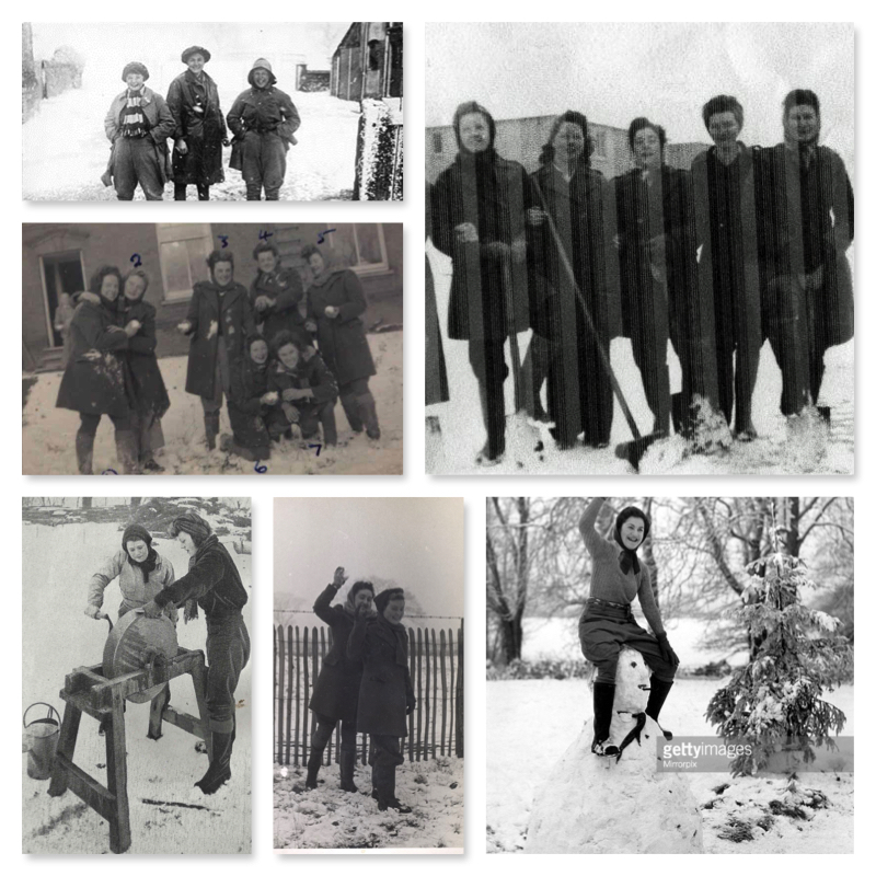 February: Land Girls and Lumber Jills in the snow