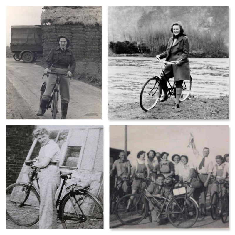 March: Land Girls and Lumber Jills on bikes