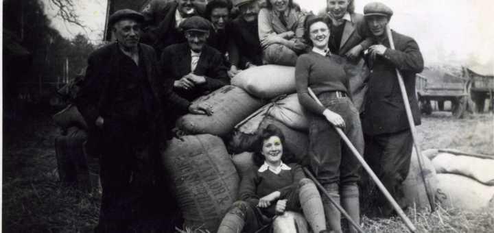 Mary Gibbs and friends at Briarwood, Dormansland