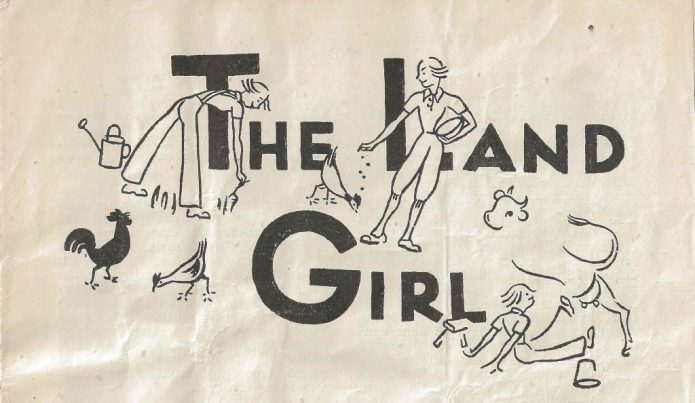 1944 edition of The Land Girl magazine.