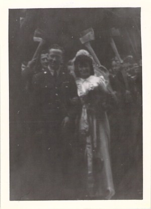 """""""Yankee Tmber Corps Wedding"""", at Wutton Church, July 1943."""