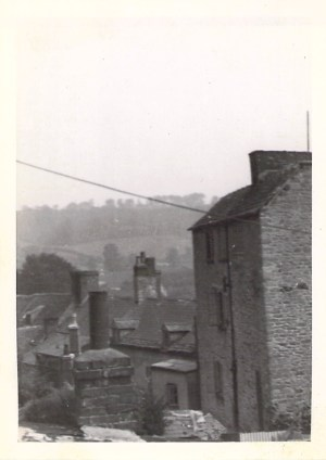 View from front of bedroom window at Views from Coombe Road, Women working in woods at Wootton-on-Edge, 1943.