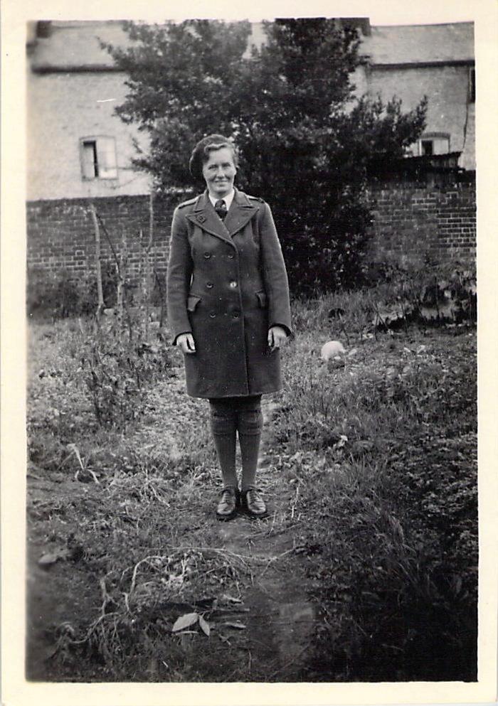 Joy in her Women's Timber Corps uniform.