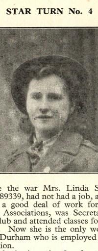 Linda Shrigley in The Land Girl Magazine, June 1945, p.7