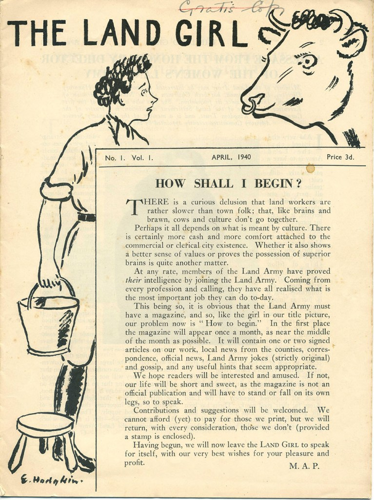 The Land Girl April 1940