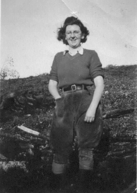 Lumber Jill who felled trees at Jubilee Mountain in Llanberis