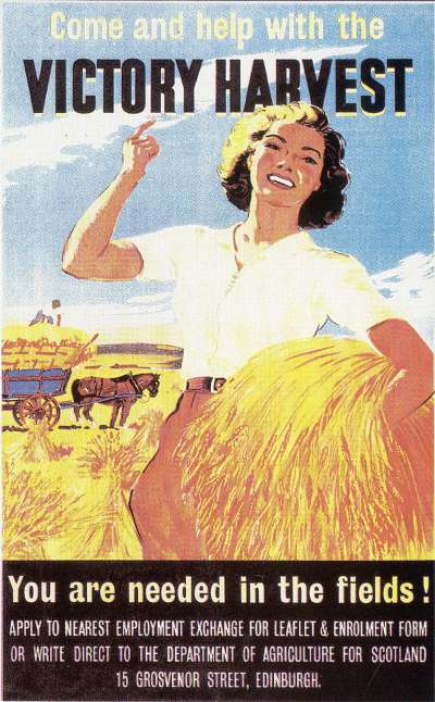 Women's Land Army poster.