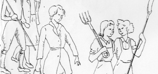 Land Girl drawings by a Buckinghamshire Land Girl
