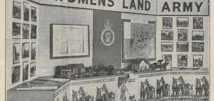 Recruitment stand for Essex Women's Land Army