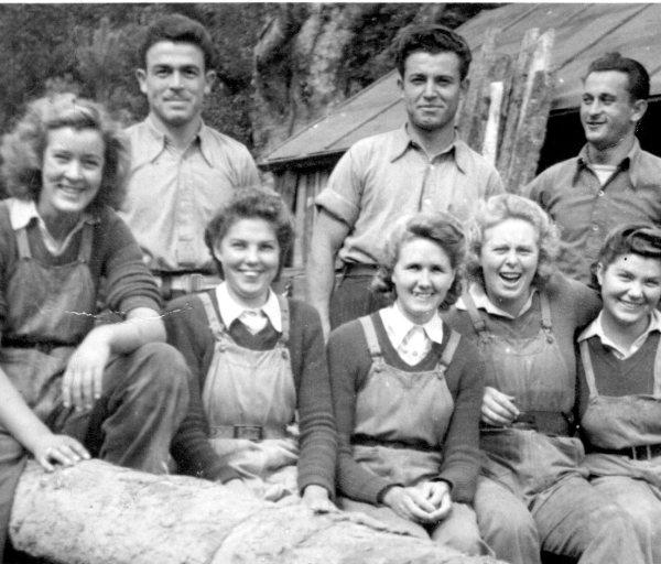 Doreen Kapala (née Keable) with other Lumber Jills
