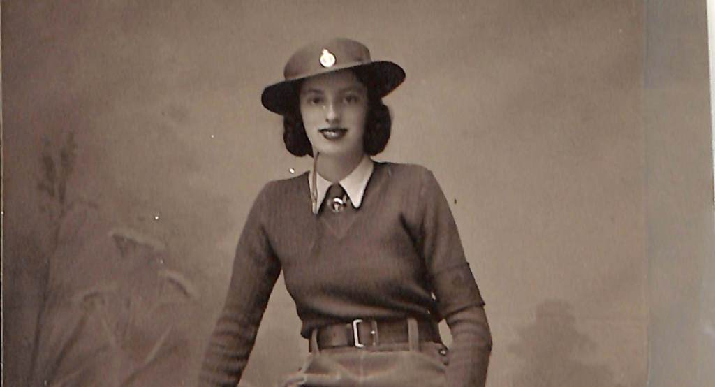Mary Linda Haynes in her WLA uniform, 1940s