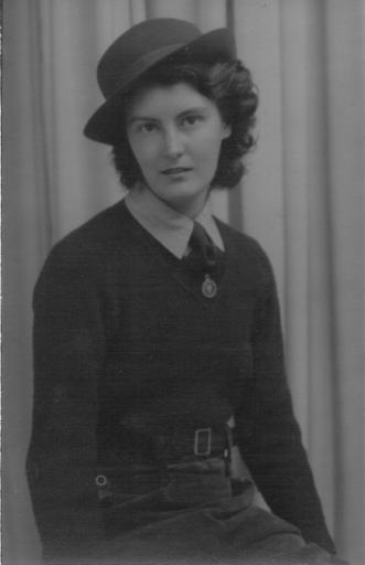 Margaret Footsoy in her WLA uniform