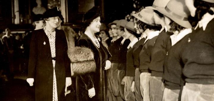 Queen Elizabeth The Queen Mother meeting Land Girls in March 1940 featured