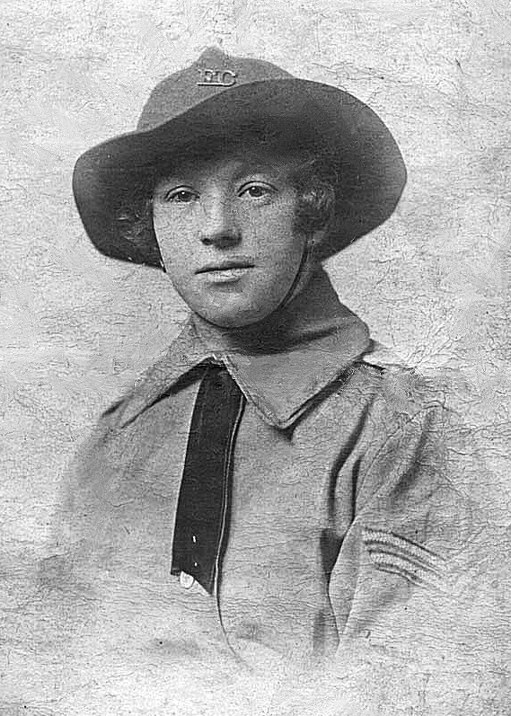 Jane Ann Markham (née Burt) in her Women's Forage Corps uniform.