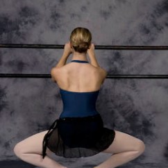 Perfect Posture In Chair Grey And White Ballet For Fitness - Women's Life Link