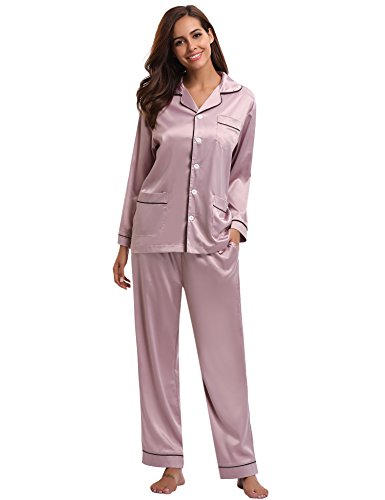 V Neck Short Sleeved T-Shirt /& Cuffed Bottoms or Shorts Sets Sleepwear Lounge Night Wear Pjs Aibrou Women Pyjama Set with Lace