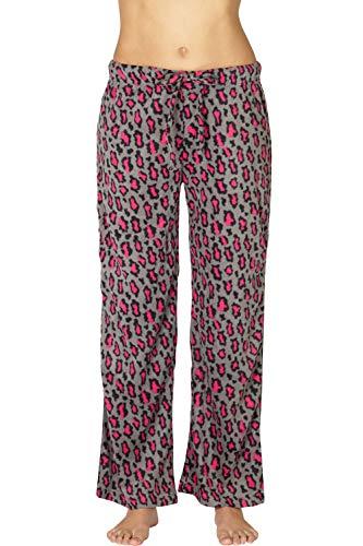 INTIMO Womens Printed Microfleece Pajama Pant