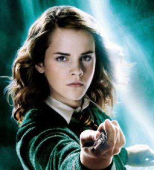 Emma Watson as Hermoine Granger in a promotional poster for the fifth Harry Potter film