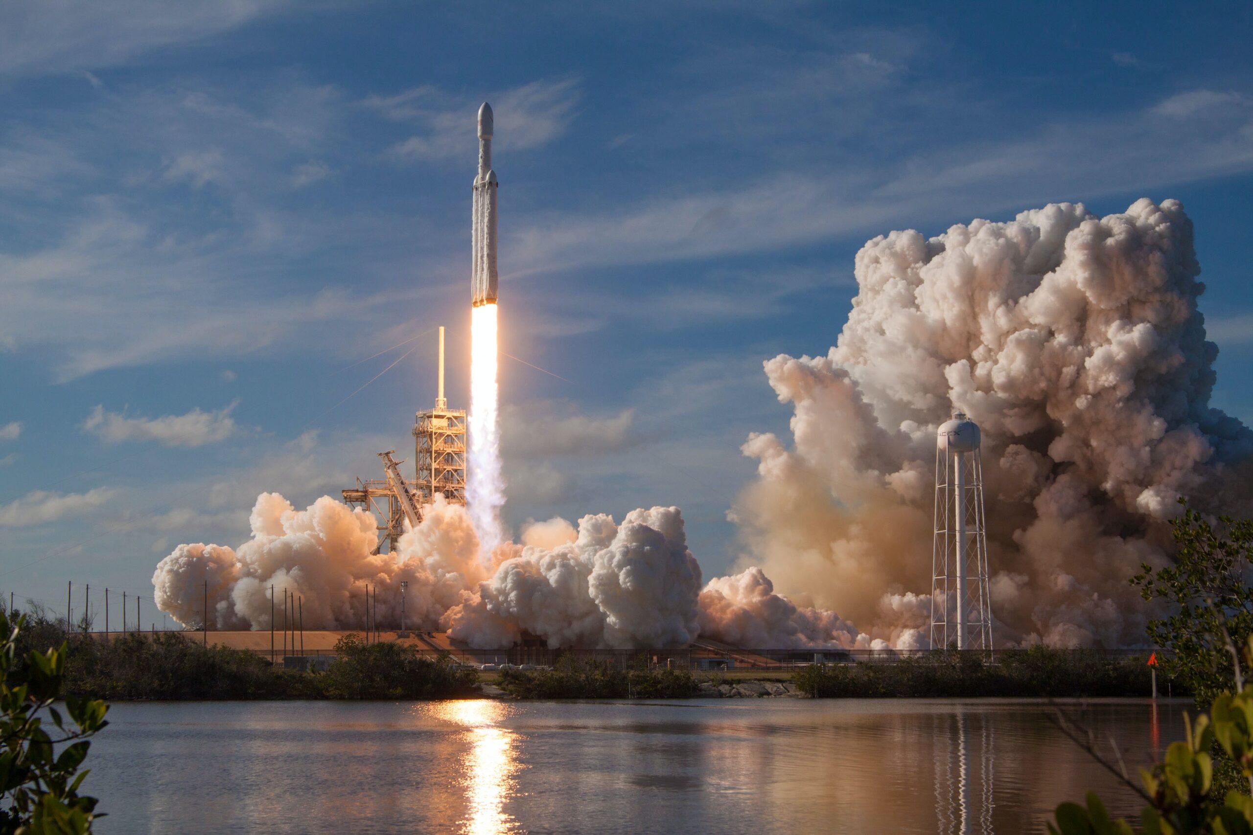 billionaire space race rocket launches