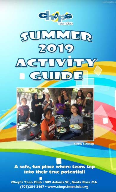 Chops Teen Club 2019 Activity Guide