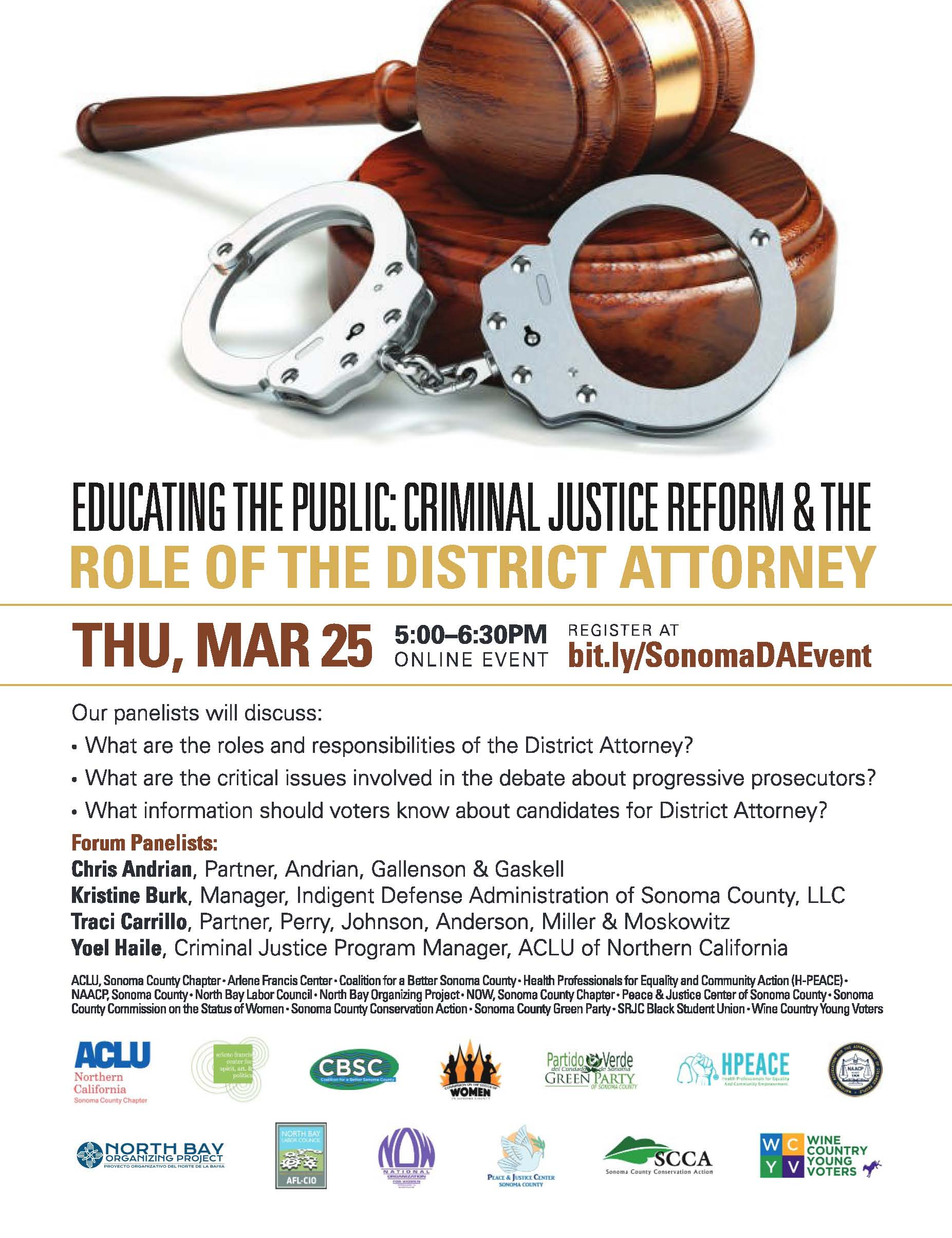 Criimnal Justice Reform and the Role of the District Attorney