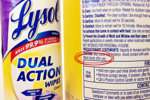 Chemicals of concern in disinfectant wipes - Image